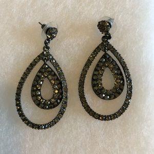 Beautiful Gunmetal Earrings